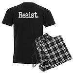 Resist Anti-Trump Liberal Men's Dark Pajamas