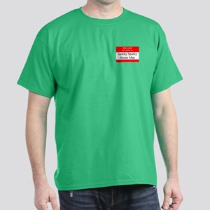 Sparky Sparky Boom Man Name Tag Dark T-Shirt