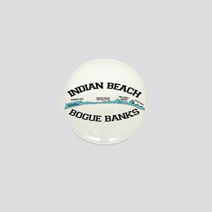 Indian Beach NC - Ligththouse Design Mini Button