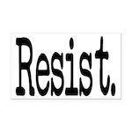 Resist Anti-Trump Liberal Rectangle Car Magnet