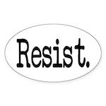 Resist Anti-Trump Liberal Sticker (Oval 10 pk)