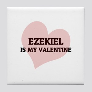 Ezekiel Is My Valentine Tile Coaster