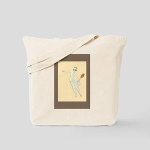 Art Deco Tennis Girl - Tote Bag