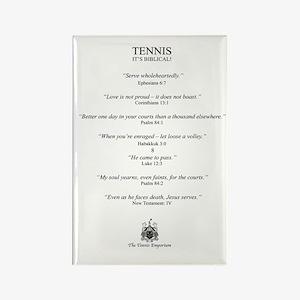 Biblical Tennis Quotes - Fridge Magnet