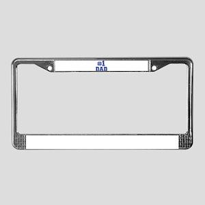 No.1 Dad License Plate Frame