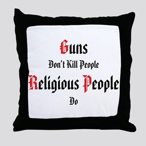 guns don't kill people Throw Pillow
