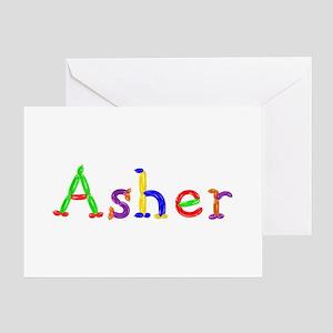 Asher Balloons Greeting Card