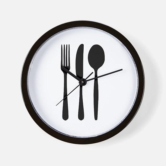 Cutlery - Fork - Knife - Spoon Wall Clock