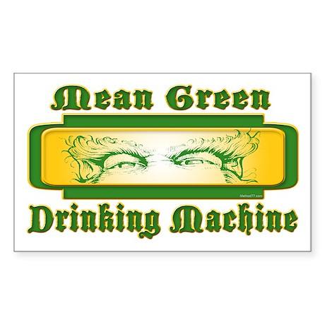 Mean Green Rectangle Sticker