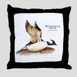 Bufflehead Duck Throw Pillow