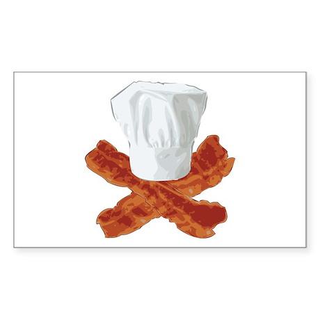 Bacon Chef Sticker (Rectangle 10 pk)