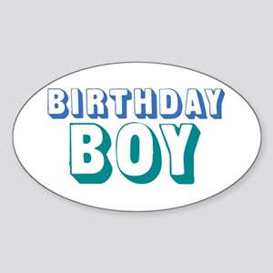 Birthday Boy Sticker (Oval)