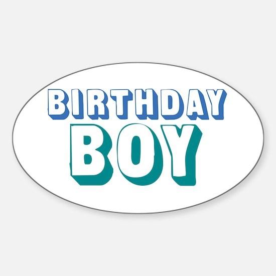 Birthday Boy Sticker (Oval)