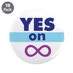 """3.5"""" Yes on Inifnity Button (10 pack)"""