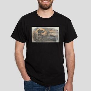 Hunting Dog antique label Dark T-Shirt