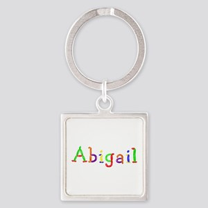 Abigail Balloons Square Keychain