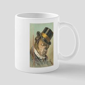 Cute Bulldog Top Hat Mug