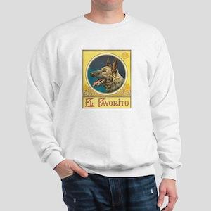 German Shepherd antique label Sweatshirt