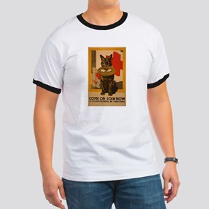 Red Cross Dog Poster Ringer T