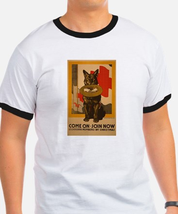 Red Cross Dog Poster T