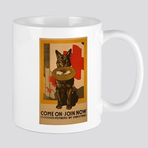 Red Cross Dog Poster Mug