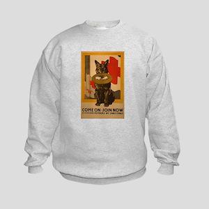 Red Cross Dog Poster Kids Sweatshirt