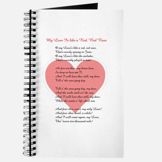 Red, Red Rose, Burns Poem Journal