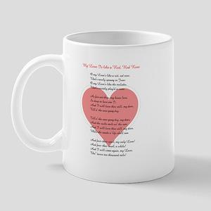Red, Red Rose, Burns Poem Mug