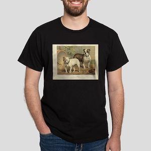 Bulldogs antique print Dark T-Shirt