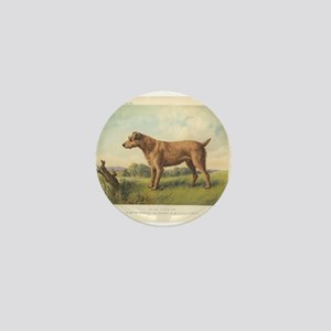 Cute Irish Terrier print Mini Button