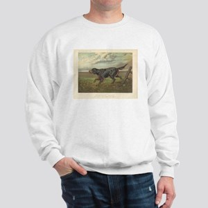 Hunting Dog antique print Sweatshirt