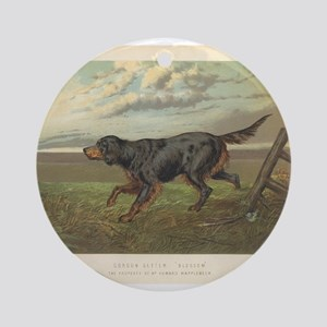 Hunting Dog antique print Ornament (Round)