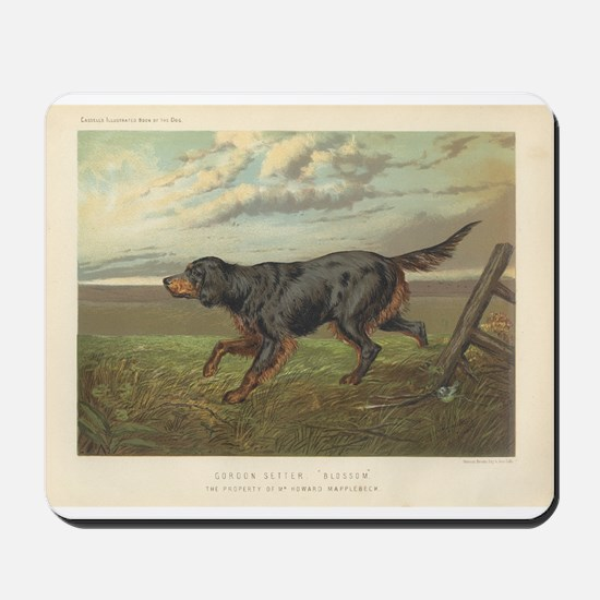 Hunting Dog antique print Mousepad