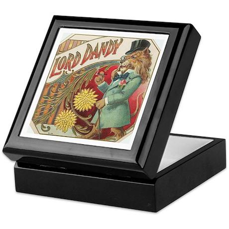 Dandy Lion antique label Keepsake Box