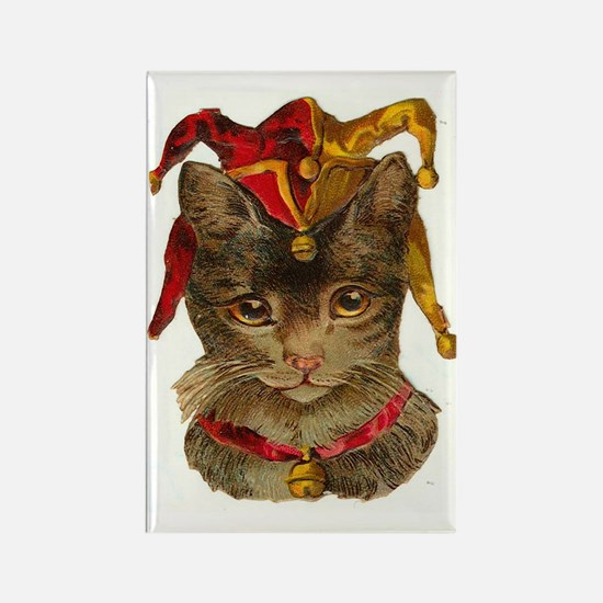 Clown Jester Cat Rectangle Magnet