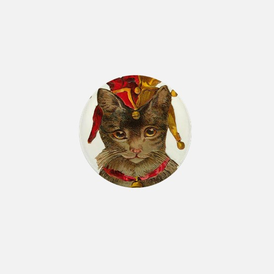 Clown Jester Cat Mini Button