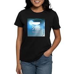 Logo with URL and tagline 4 Women's Dark T-Shirt