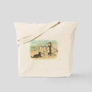 Kitties on the Beach Tote Bag