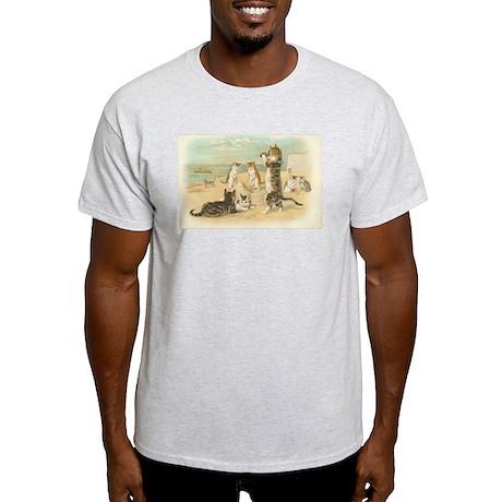 Kitties on the Beach Light T-Shirt