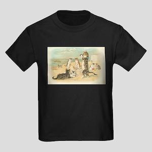 Kitties on the Beach Kids Dark T-Shirt