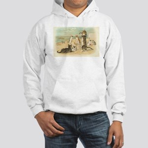 Kitties on the Beach Hooded Sweatshirt