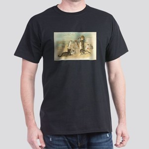 Kitties on the Beach Dark T-Shirt