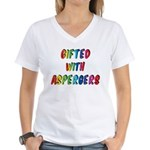 Gifted with Aspergers Women's V-Neck T-Shirt