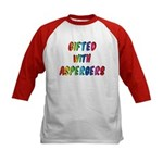 Gifted with Aspergers Kids Baseball Jersey