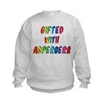 Gifted with Aspergers Kids Sweatshirt