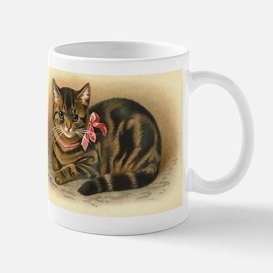 Grey Tabby Victorian Cat Mug