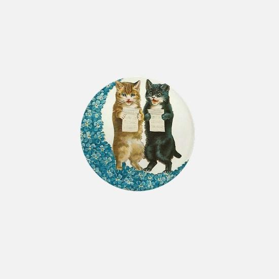 Blue Moon Singing Cats Mini Button
