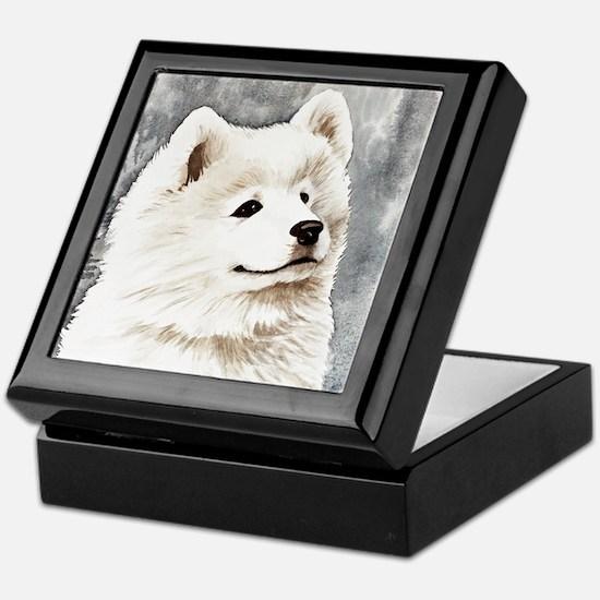 Samoyed Puppy Keepsake Box
