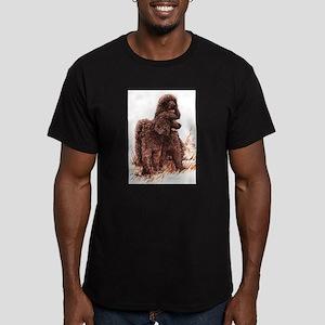 Irish Water Spaniel Men's Fitted T-Shirt (dark)