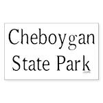 Cheboygan State Park Sticker (Rectangle)